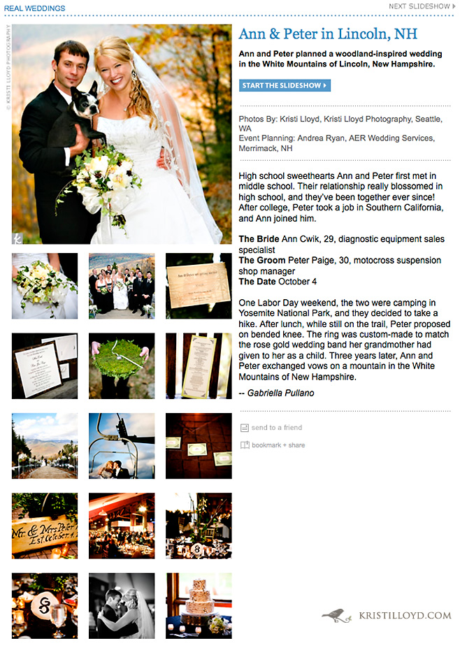 Ann & Peter Featured on The Knot Real Weddings
